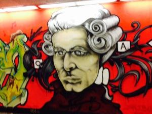 Austria Mozart Grafitti
